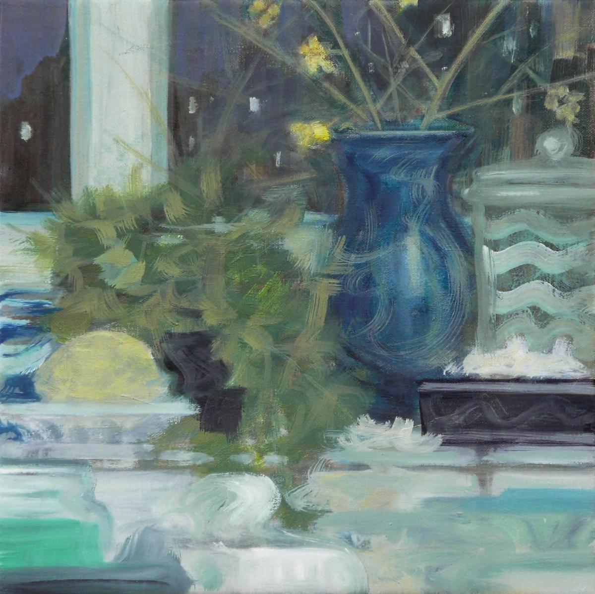 oil painting by Rebecca Payn, 'Kitchen Window' (iii)