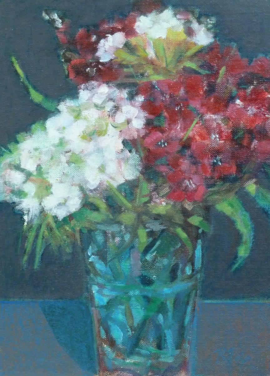 'Sweet Williams' oil by R Payn