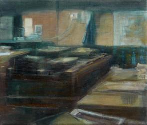 oil painting by Rebecca Payn, 'Studio' (vi)