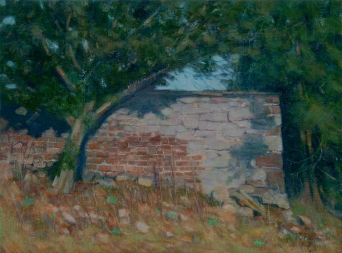'Corner of a Garden Wall' i R Payn